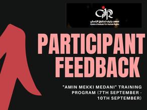 "Participants Feedback on the First Regional ""Amin Mekki Medani"" Training Course"