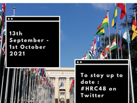 Human Rights Council - 48th Session : 13th of September - 1st of October 2021