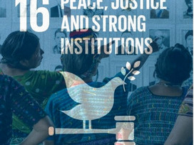 SDG 16 : PEACE, JUSTICE, & STRONG INSTITUTIONS