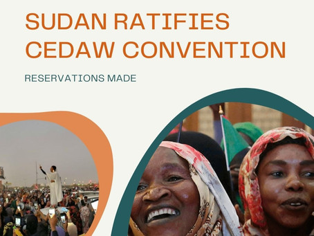 SUDAN RATIFIES CEDAW CONVENTION : RESERVATIONS MADE