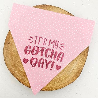 Pink Gotcha Day Pet Bandana