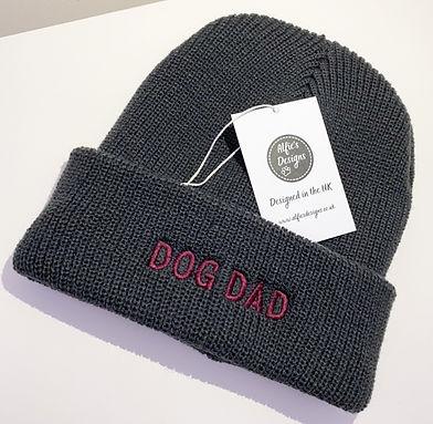 Grey Dog Dad Hat