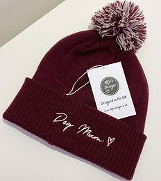 Burgundy Dog Mum Hat