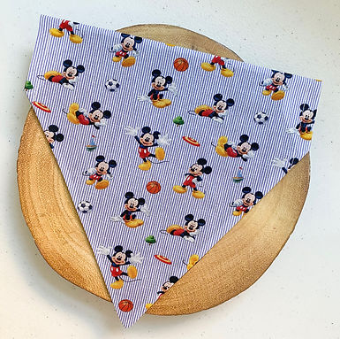 Striped Mickey Mouse Pet Bandana