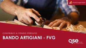 Contributi a fondo perduto per le aziende artigiane della Regione Friuli Venezia Giulia