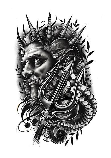 Poseidon A4 Print