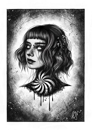 Dead Gal A4 Print