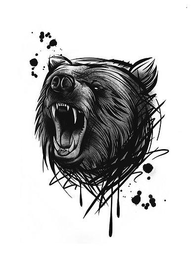 Bear A5 print