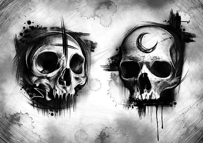 Skull Duo A4 Print