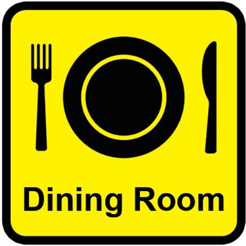 Dining Room Aluminium Composite Door Sign