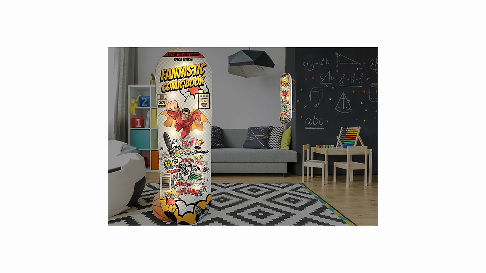 SKATEBOARD WALL DECOR LIGHT
