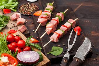 Pork and Pepper Kebabs