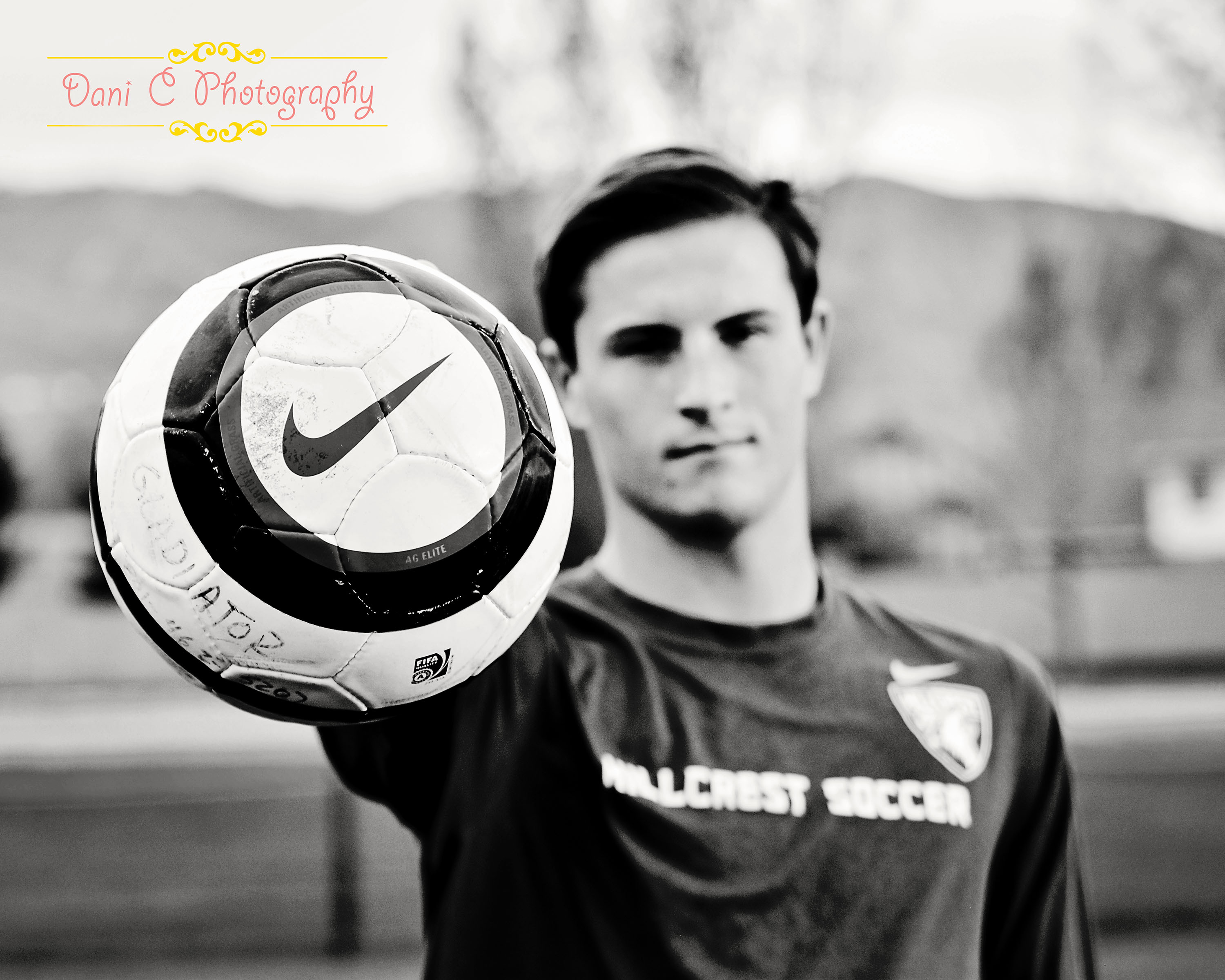 soccer senior portrait