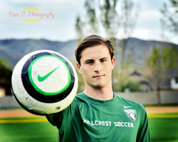 Soccer players portraits