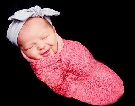 smiling newborn provo utah