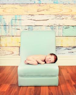 little blue seat