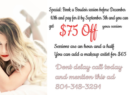 Boudoir special is coming to an end