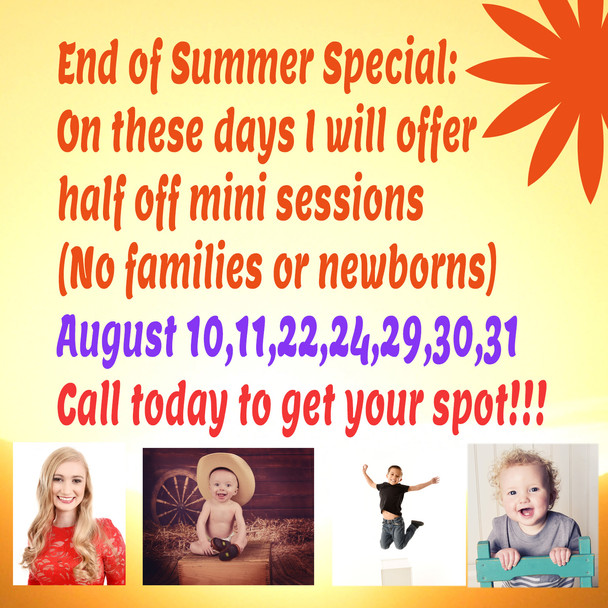 Special going on now!