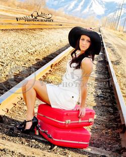 senior pictures railroad tracks