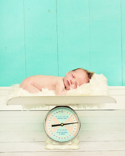 Vintage baby scale newborns