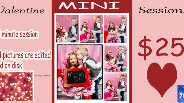 Don't miss our mini valentine session special