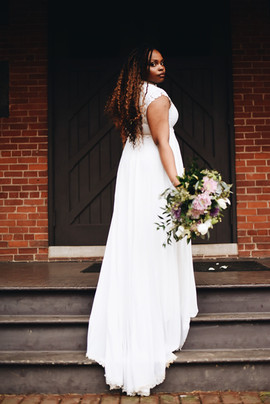 Bridal with Faux Locs