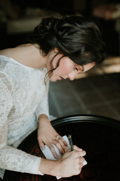 Glowy Dewy Bridal Makeup & Romantic Bridal Updo