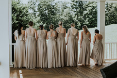 Bridesmaid Updos and Sleek Pony Tails