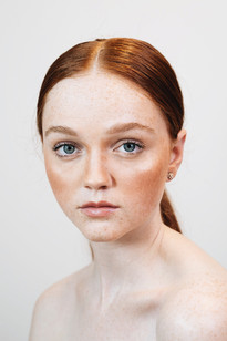 Natural Makeup with a Sleek Pony on the Most Gorgeous Red Head