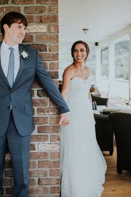 Beautiful Asheville Bride at her First Look