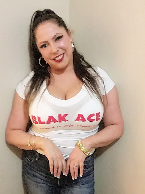 BLAK ACE - HEAVENZ GATES - WOMENS - V-NECK T-SHIRT