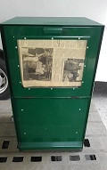 US新聞販売機 緑