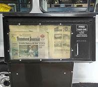 新聞販売機 茶