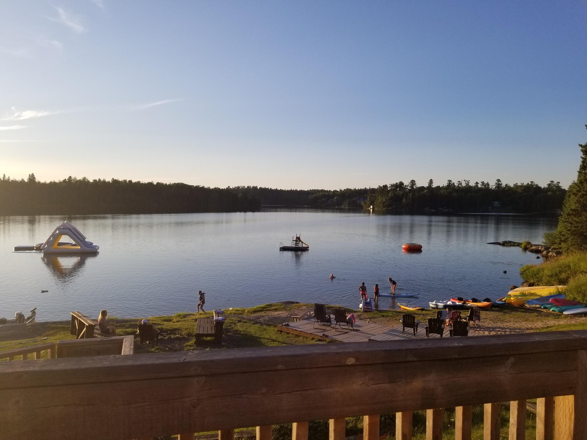 lodge deck view