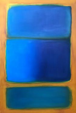 geometrica em oleo azul_mostarda