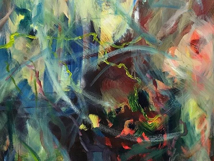 abstrato óleo sobre tela