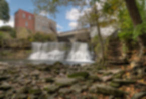 Chagrin Falls. The beautiful 20-foot tal
