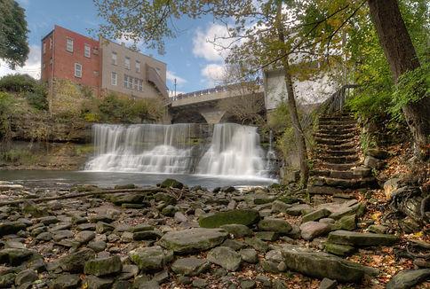 Chagrin Falls. The beautiful 20-foot tal