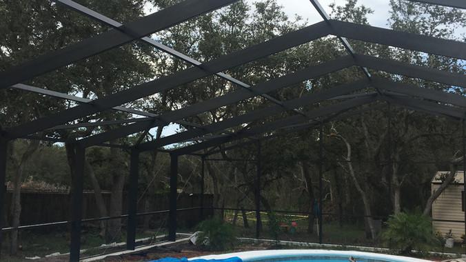40x60 pool enclosure -poinciana fl