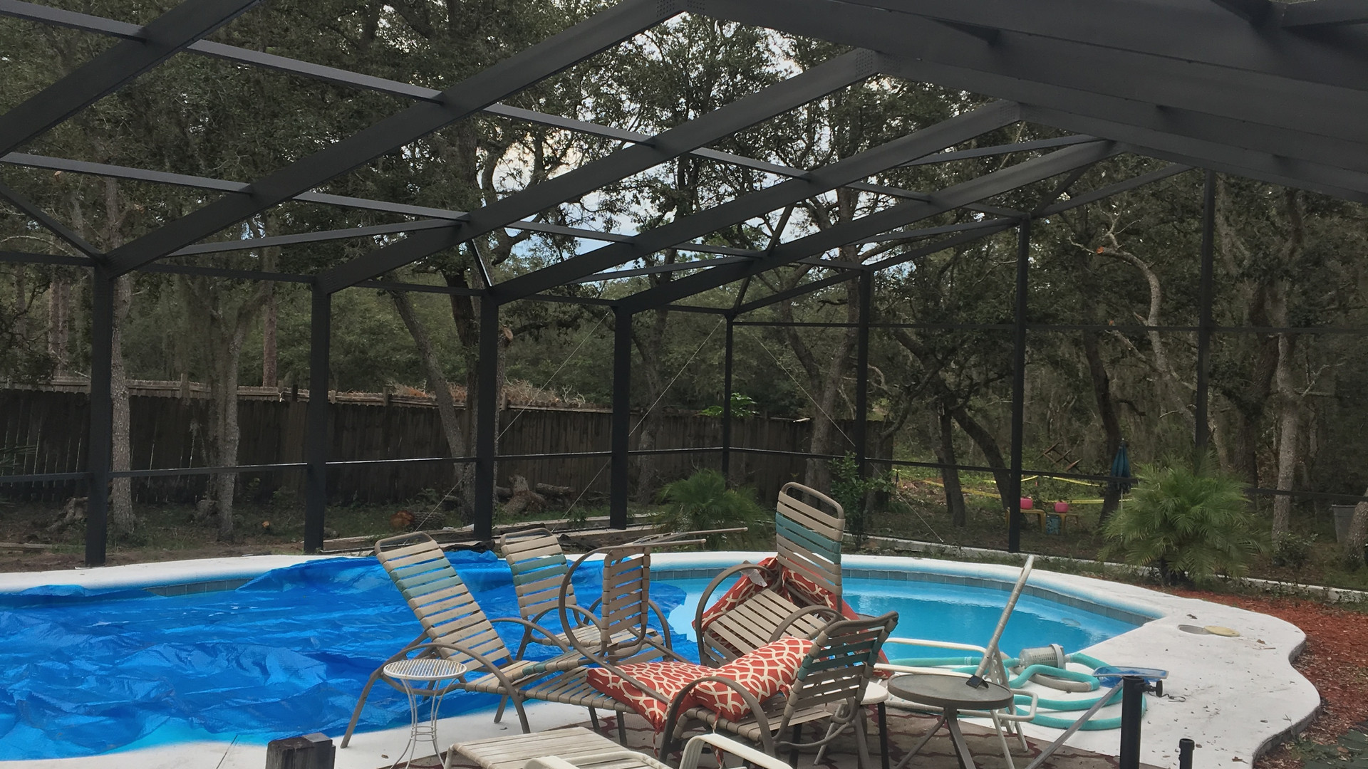 40x60 pool enclosure - poincian fl