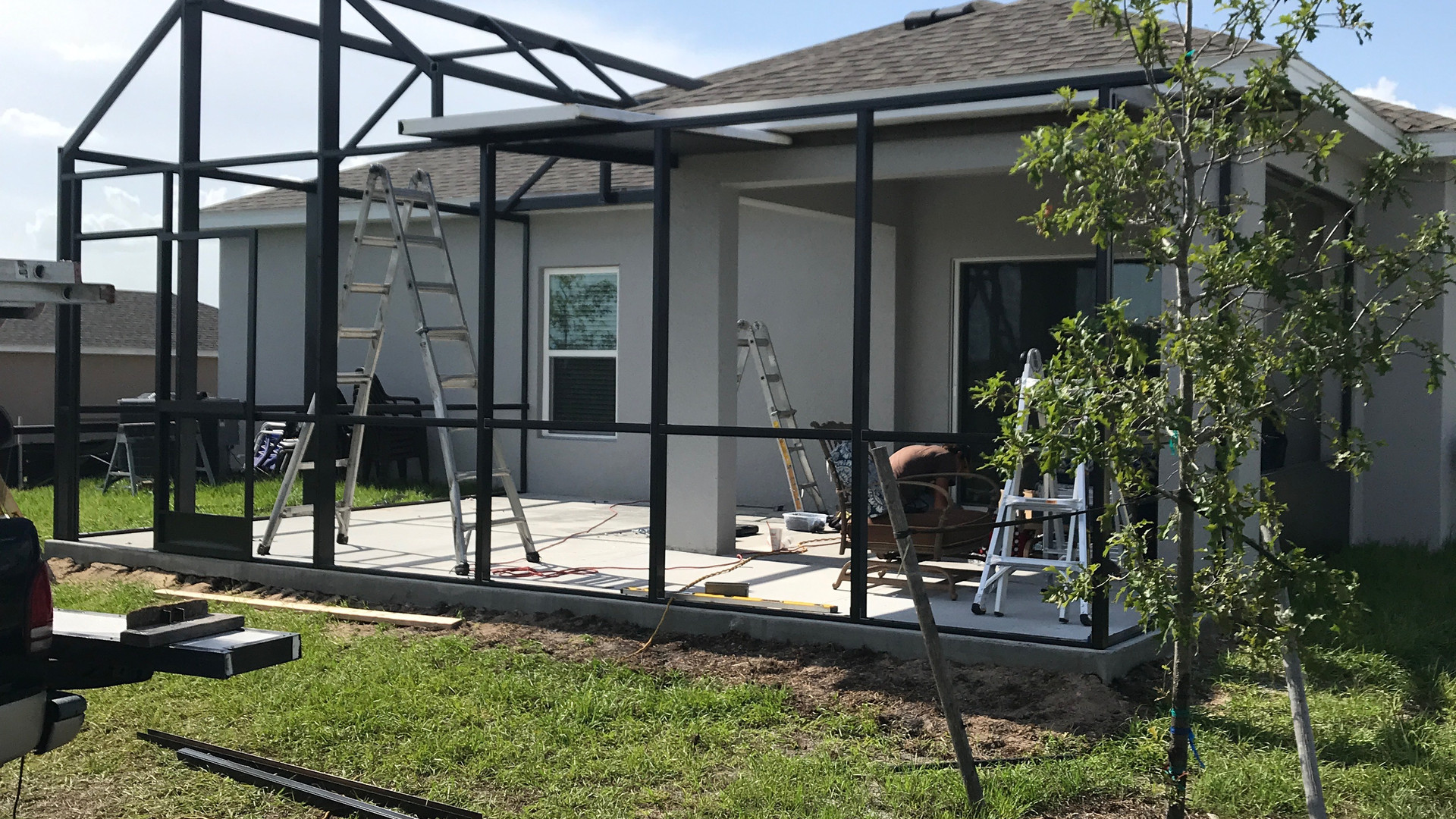 patio enclosure with elite roof