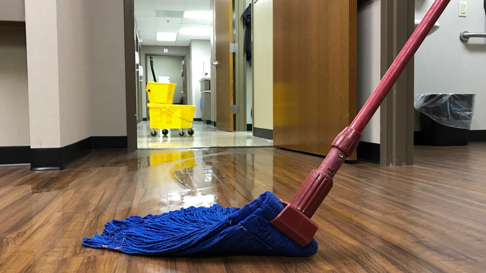 Moping Office Floor