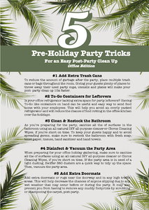 Checklist for Pre-Holiday Party Clean-Up