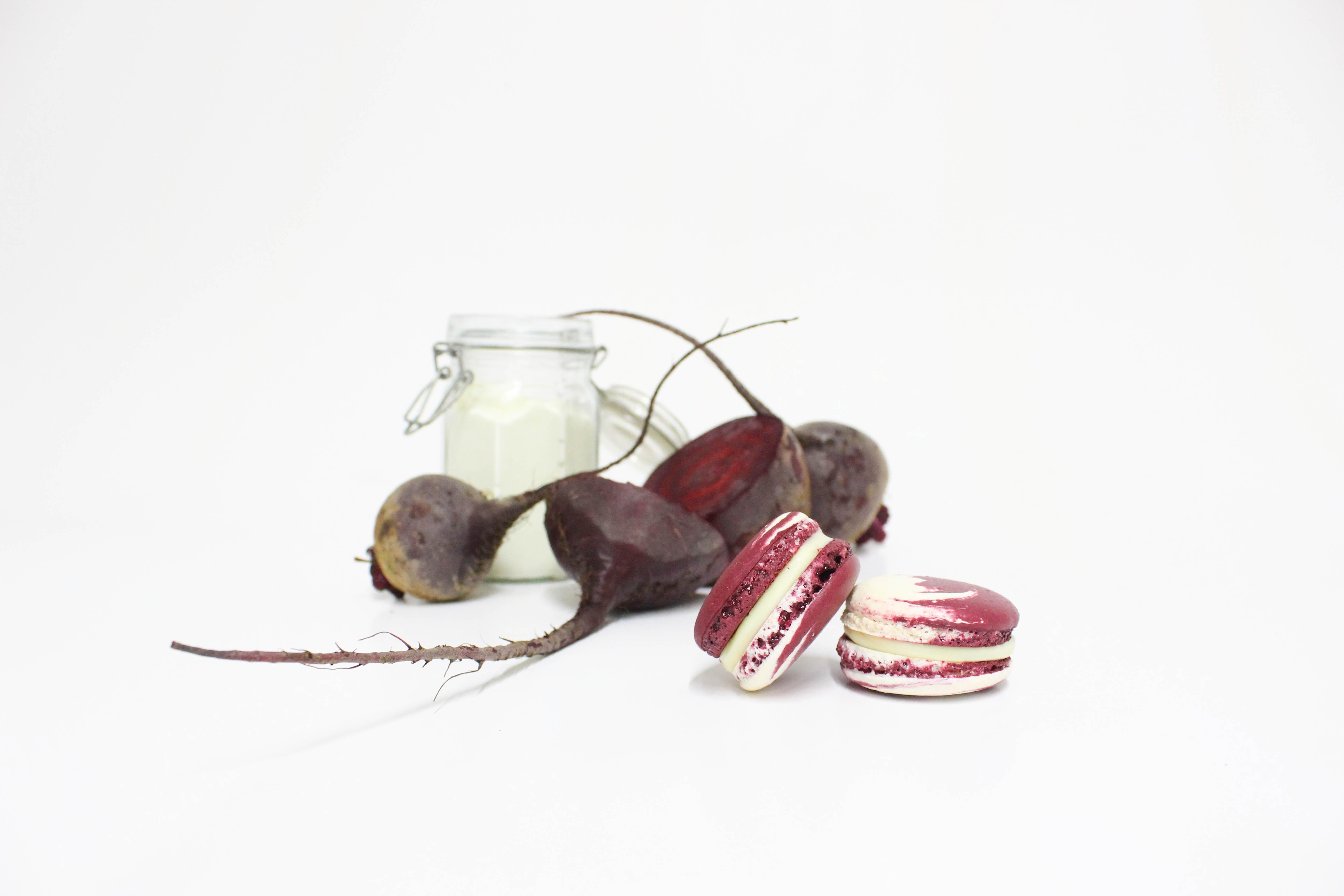 Macarón de Remolacha y Yogurt Griego