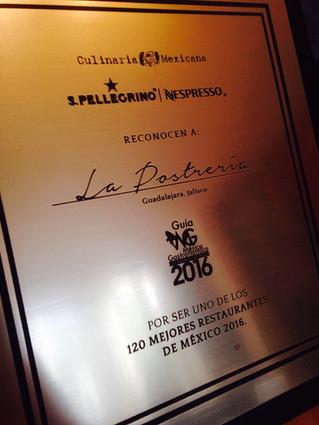 Entre los 120 Mejores Restaurantes de Mexico