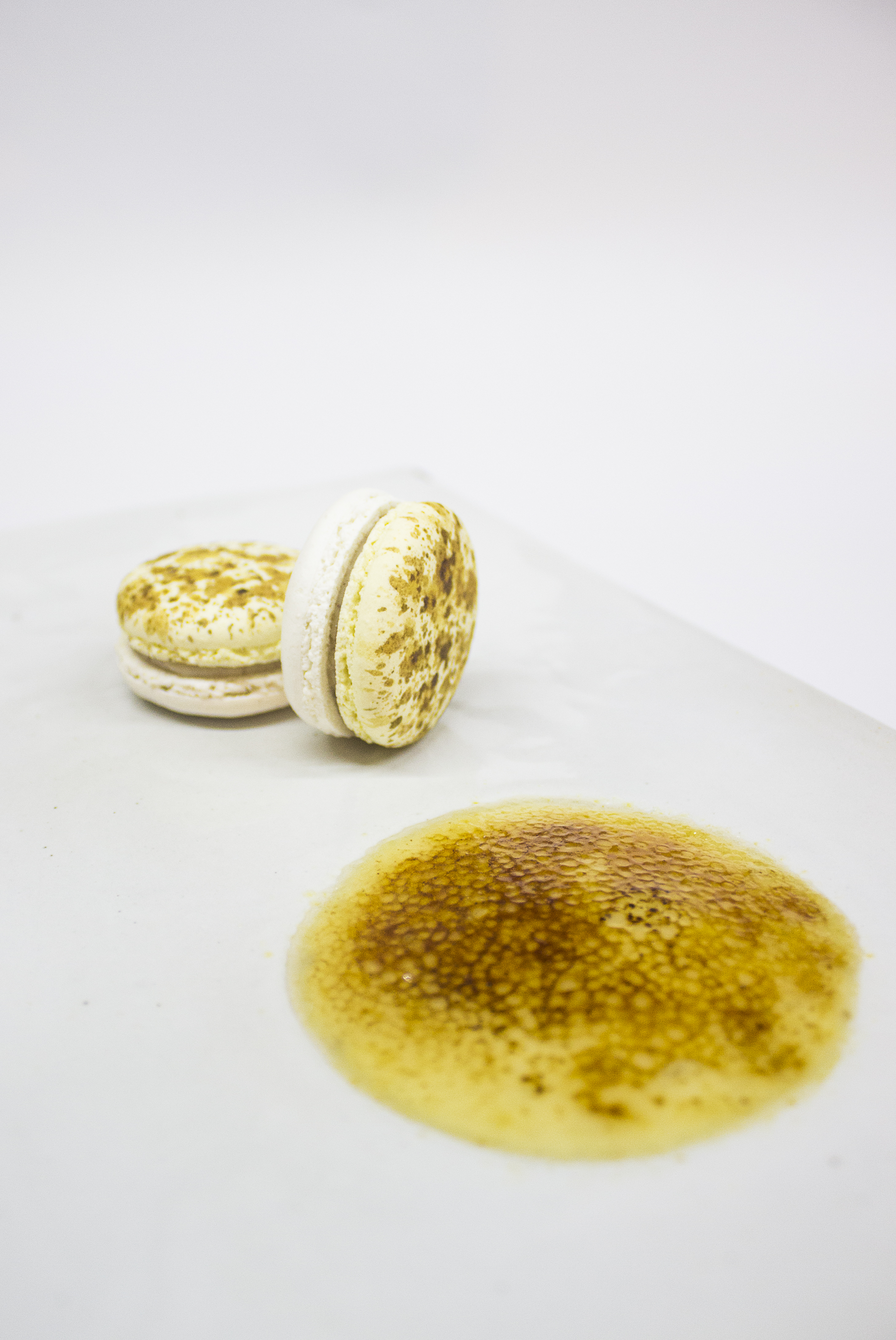 Macarón de Crème Brûlée