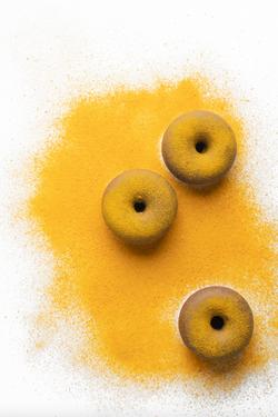 Donut Líquido de plátano, chocolate y curry