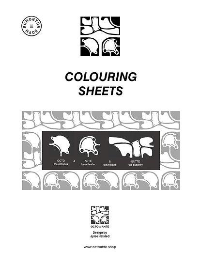 OCTO & ANTE Colouring Sheets