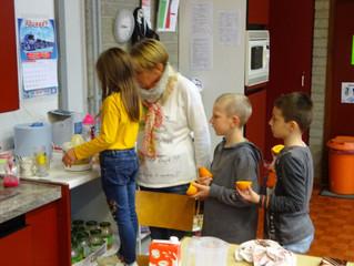 Petit déjeuner pour les élèves de 3ème et 4ème années.