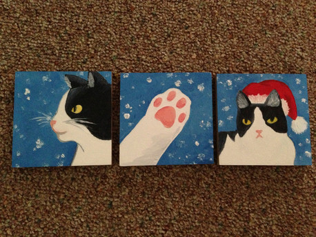 Gift: Cat mini canvases